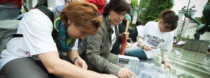 1 jaar Rana Plaza: 1138 kaarsjes op de Meir