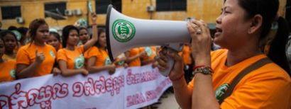 Actie voor Cambodjaanse kledingarbeiders