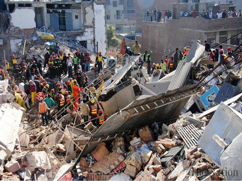 Lahore factory collapse